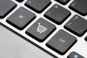 Shopping button key on laptop keyboard