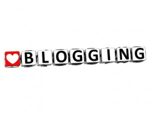 3D Love Blogging Button Click Here Block Text