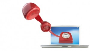 Calling by telephone over the internet