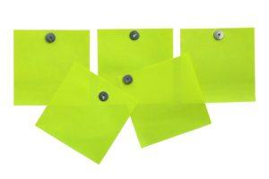 Blank paper reminders