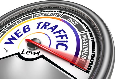 web traffic conceptual meter indicate maximum, isolated on white background