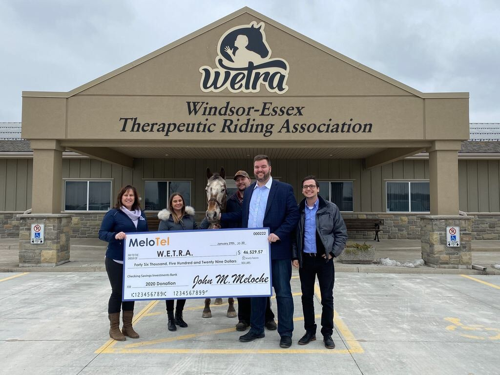 MeloTel Visits WETRA To Make A Huge Donation!